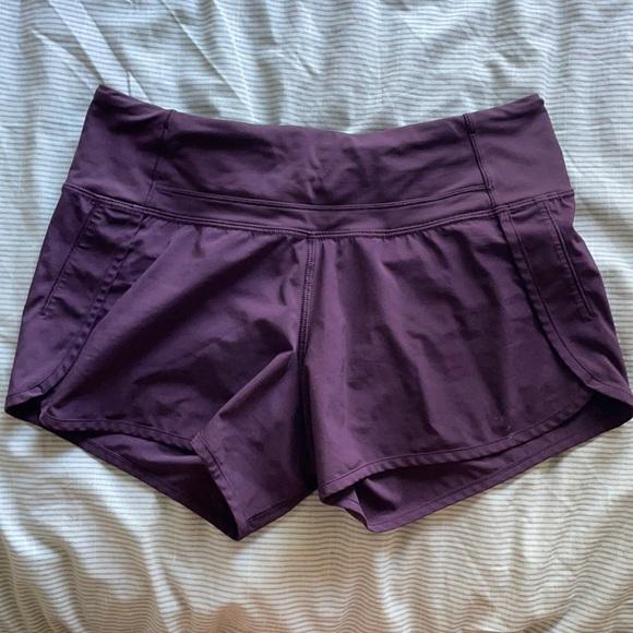 Lululemon dark purple athletic shorts